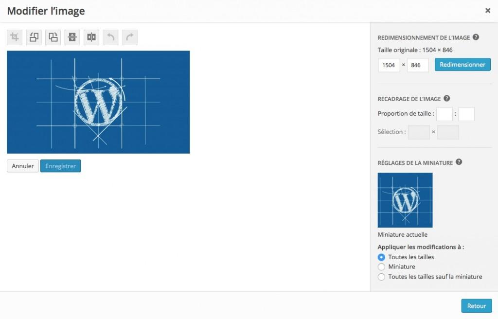 Modifier les images dans WordPress