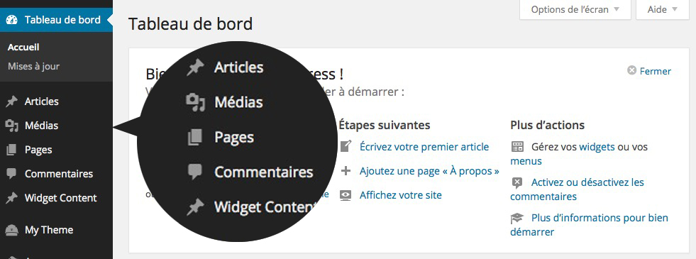 Base de WordPress - Menu