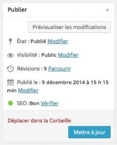 Publier les articles WordPress