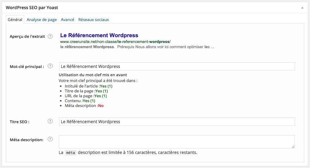 Les balises de référencement WordPress