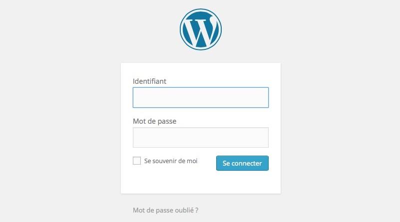 Accès administration Wordpress